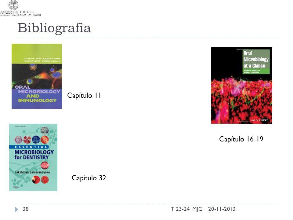 Bibliografia Capítulo 11 Capítulo 16-19 Capítulo 32 T 23-24 MJC