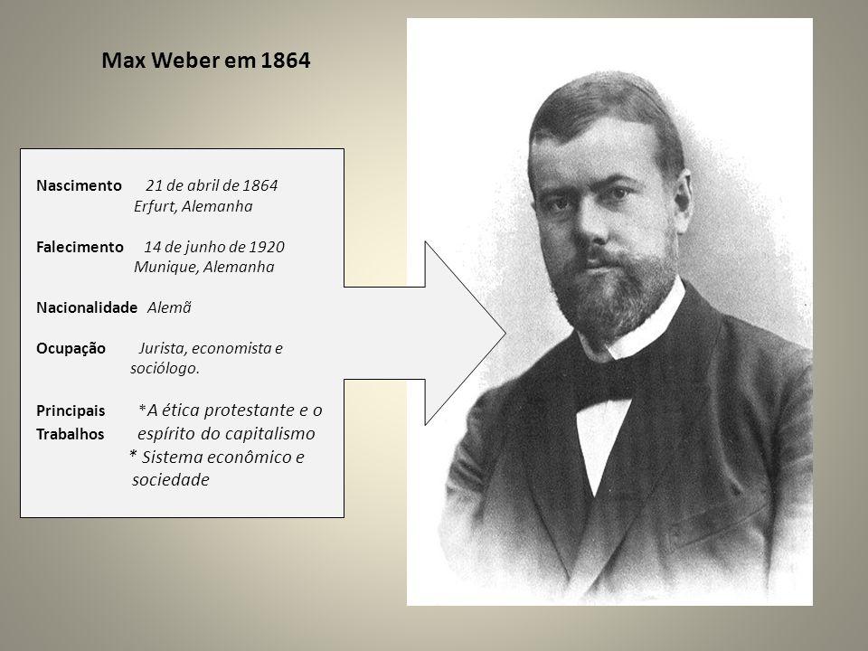 Max Weber em 1864 * Sistema econômico e sociedade