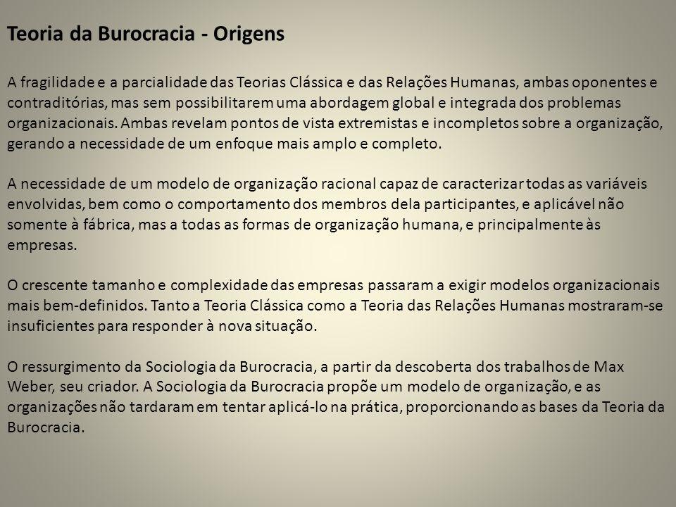 Teoria da Burocracia - Origens