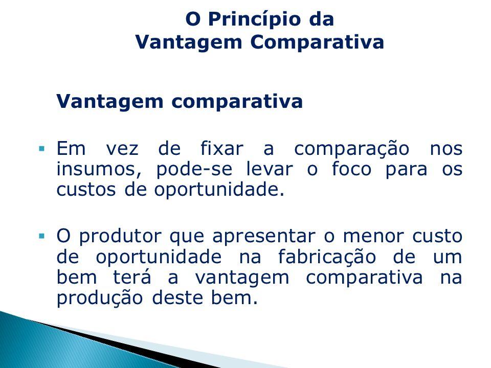 O Princípio da Vantagem Comparativa