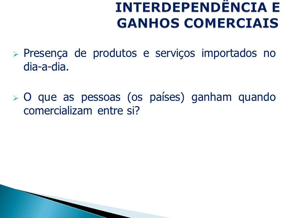 INTERDEPENDÊNCIA E GANHOS COMERCIAIS