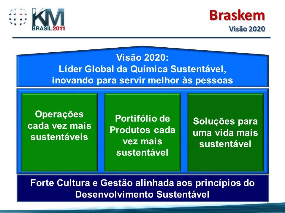 Visão 2020: Líder Global da Química Sustentável, inovando para servir melhor às pessoas