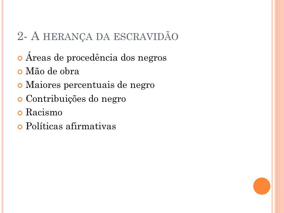 2- A herança da escravidão