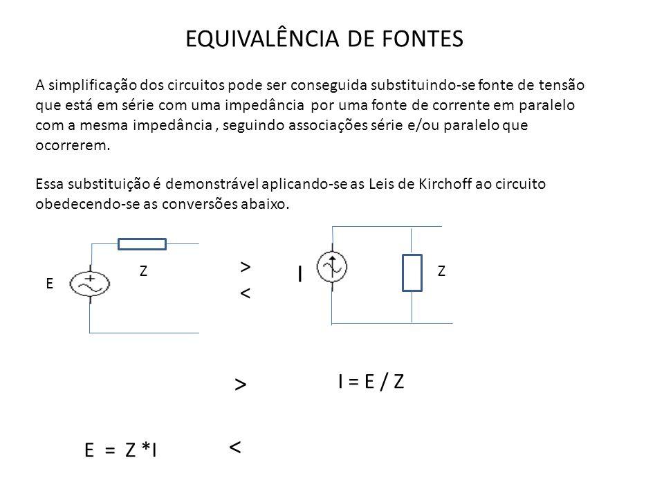 EQUIVALÊNCIA DE FONTES