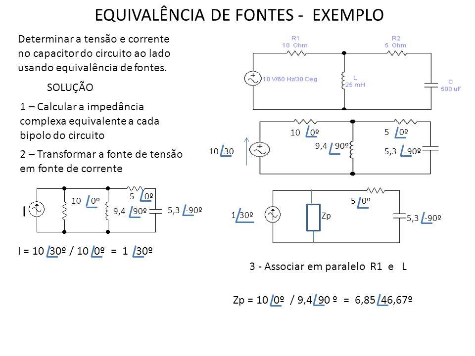 EQUIVALÊNCIA DE FONTES - EXEMPLO