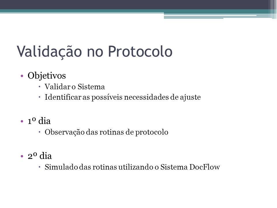 Validação no Protocolo