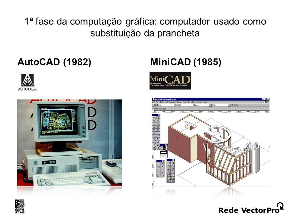 1ª fase da computação gráfica: computador usado como substituição da prancheta