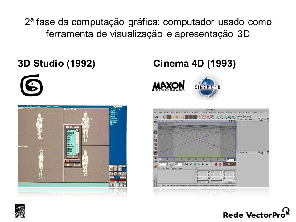2ª fase da computação gráfica: computador usado como ferramenta de visualização e apresentação 3D