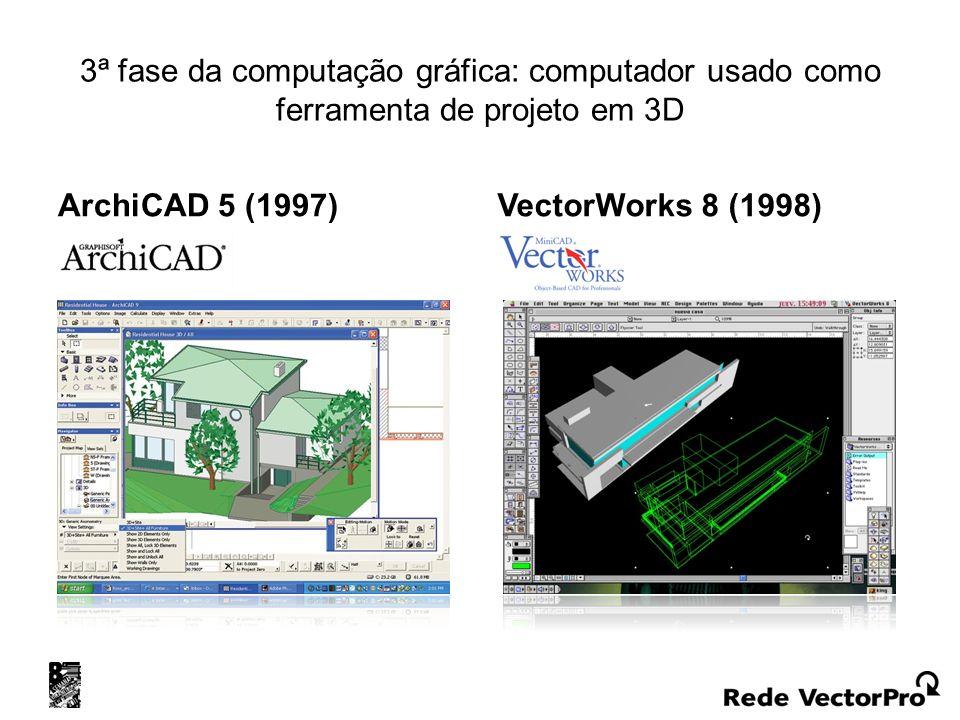 3ª fase da computação gráfica: computador usado como ferramenta de projeto em 3D