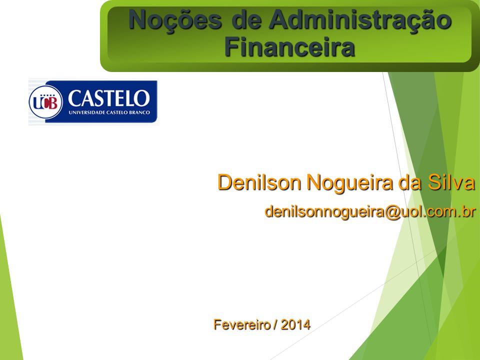 Noções de Administração Financeira