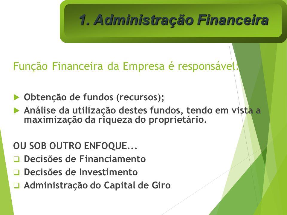 Função Financeira da Empresa é responsável: