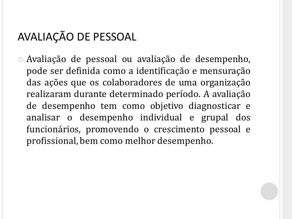 AVALIAÇÃO DE PESSOAL