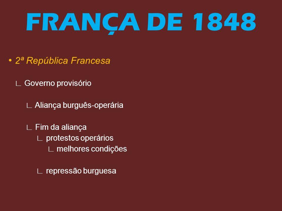 FRANÇA DE 1848 • 2ª República Francesa ∟ Governo provisório