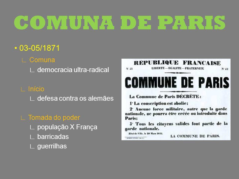 COMUNA DE PARIS • 03-05/1871 ∟ Comuna ∟ democracia ultra-radical