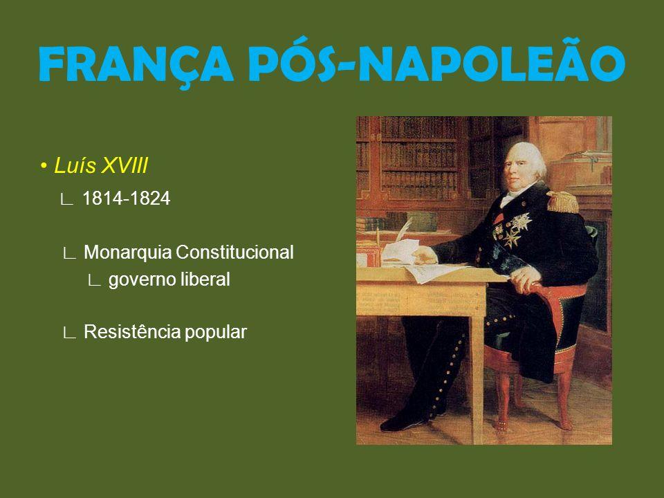 FRANÇA PÓS-NAPOLEÃO • Luís XVIII ∟ 1814-1824