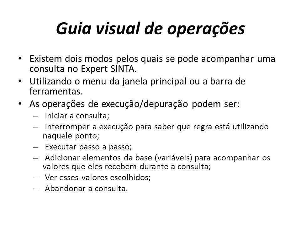 Guia visual de operações
