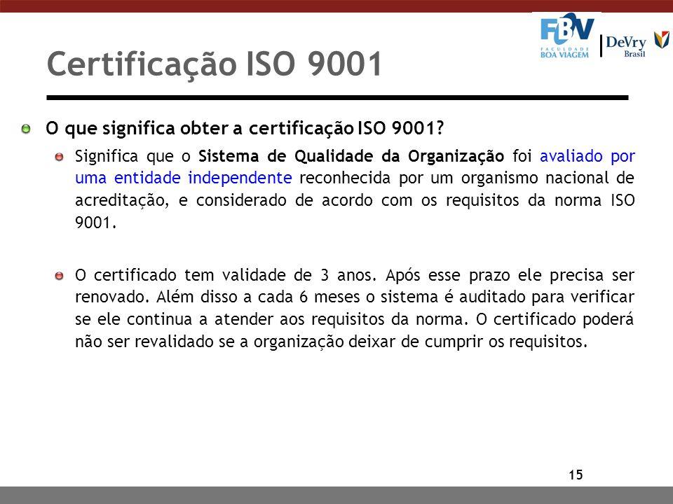 Certificação ISO 9001 O que significa obter a certificação ISO 9001