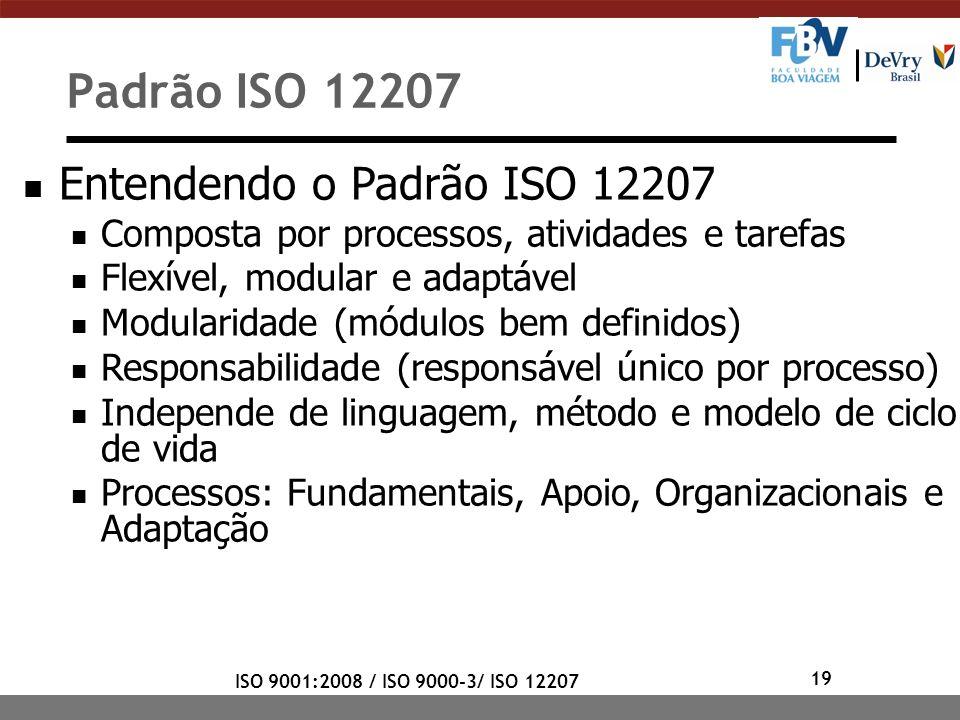 Padrão ISO 12207 Entendendo o Padrão ISO 12207
