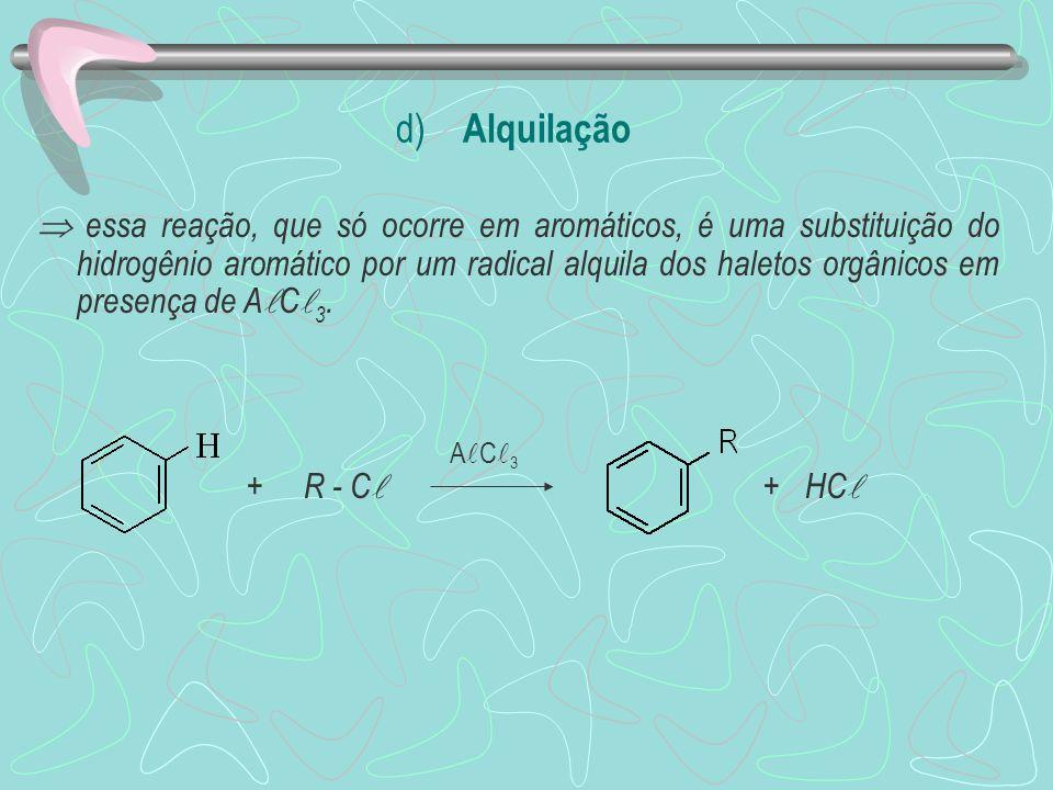 d) Alquilação
