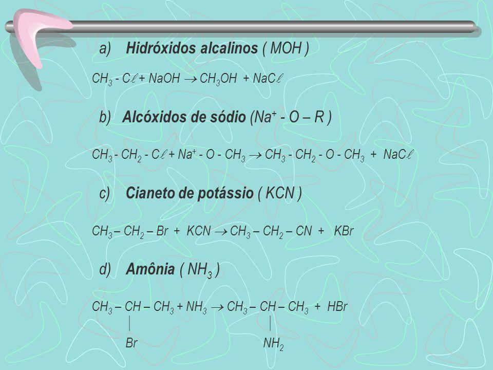 a) Hidróxidos alcalinos ( MOH )