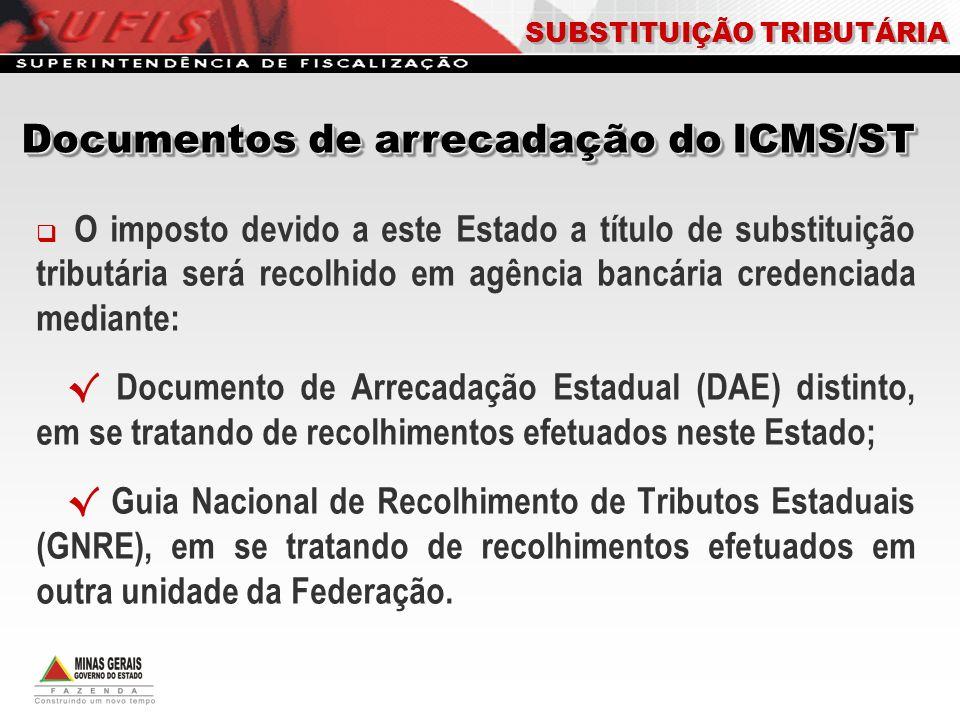Documentos de arrecadação do ICMS/ST
