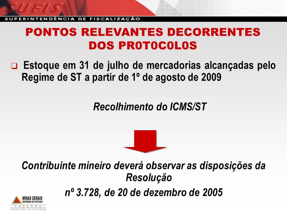 PONTOS RELEVANTES DECORRENTES DOS PR0T0C0L0S