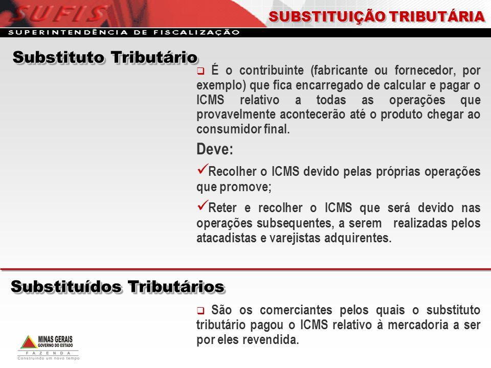 Substituto Tributário Substituídos Tributários