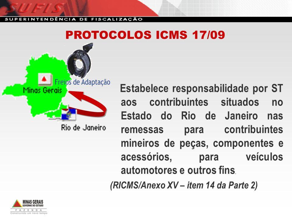PROTOCOLOS ICMS 17/09