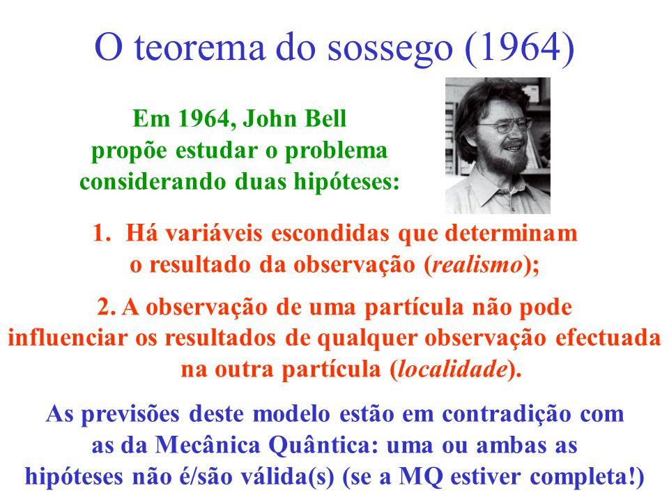O teorema do sossego (1964) Em 1964, John Bell