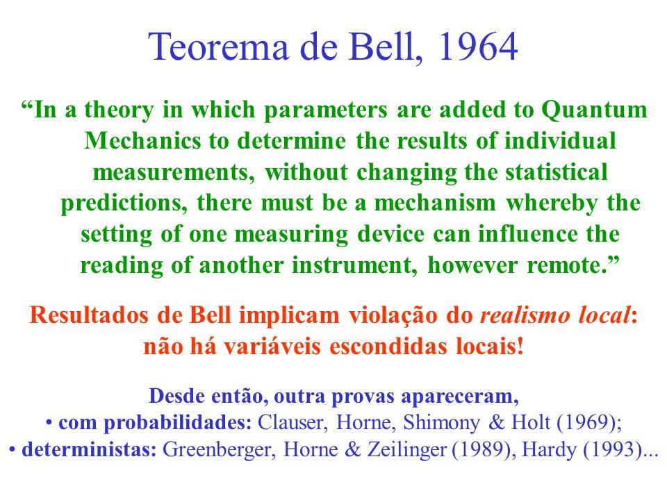 Teorema de Bell, 1964
