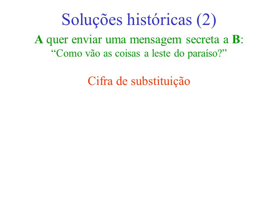 Soluções históricas (2)