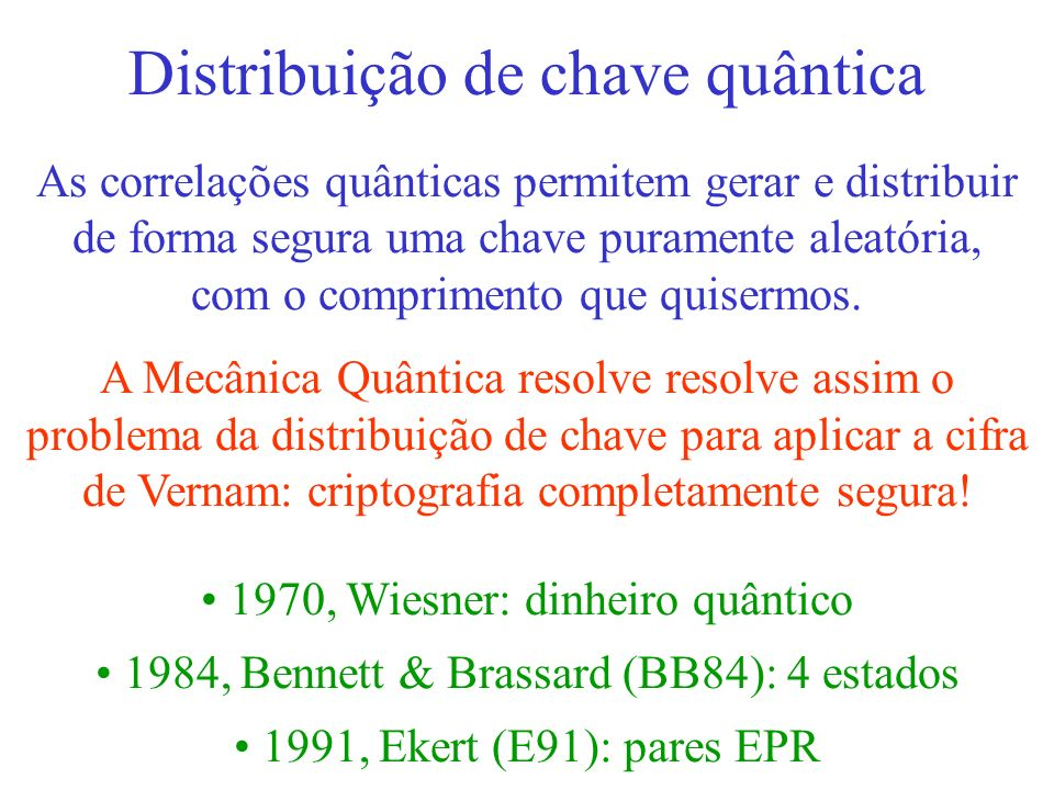Distribuição de chave quântica