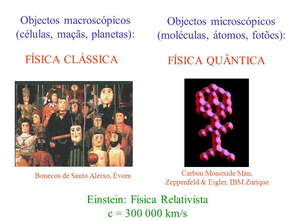 Objectos macroscópicos (células, maçãs, planetas):