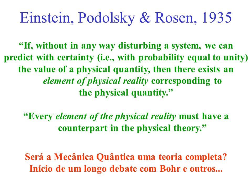 Einstein, Podolsky & Rosen, 1935