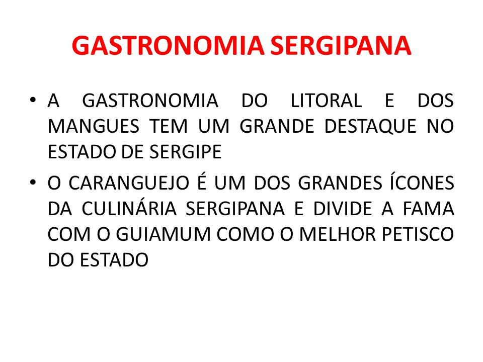 GASTRONOMIA SERGIPANA