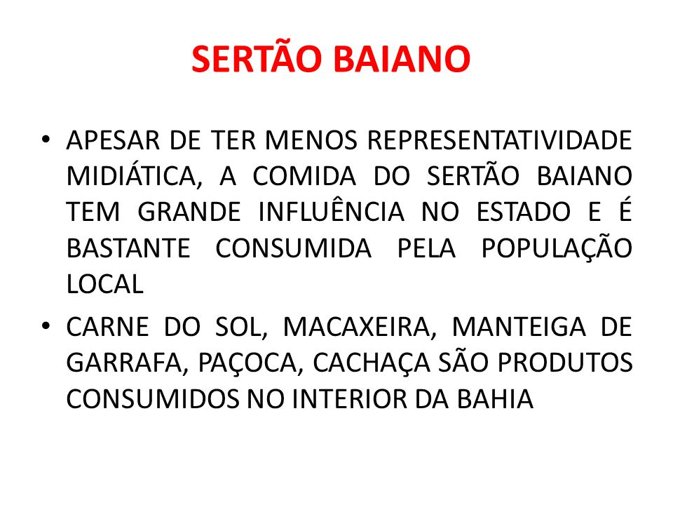 SERTÃO BAIANO