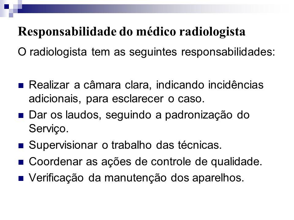 Responsabilidade do médico radiologista