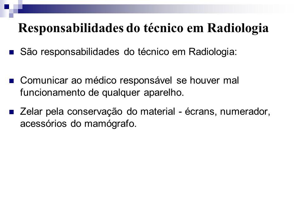 Responsabilidades do técnico em Radiologia