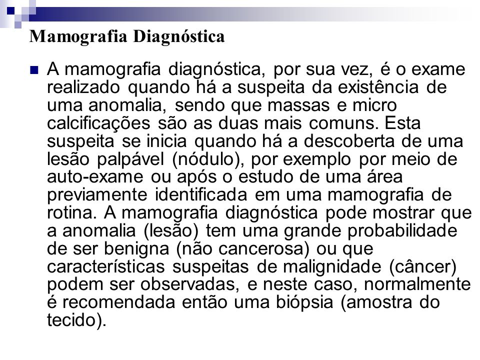 Mamografia Diagnóstica