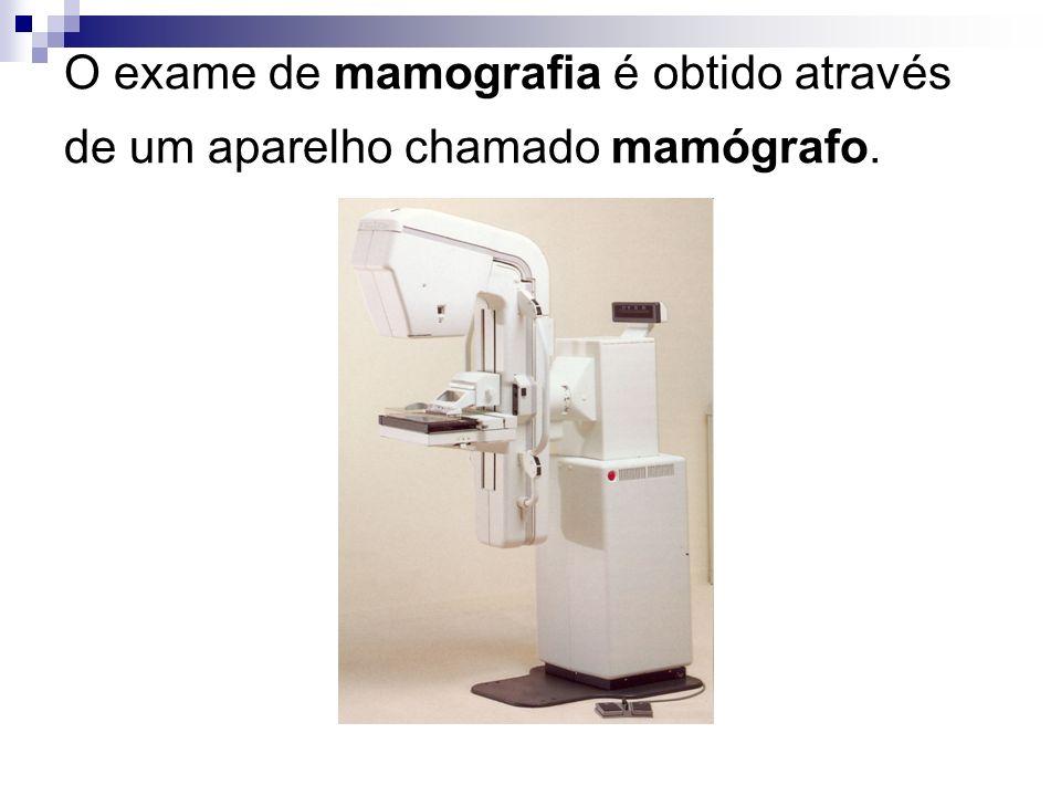 O exame de mamografia é obtido através de um aparelho chamado mamógrafo.