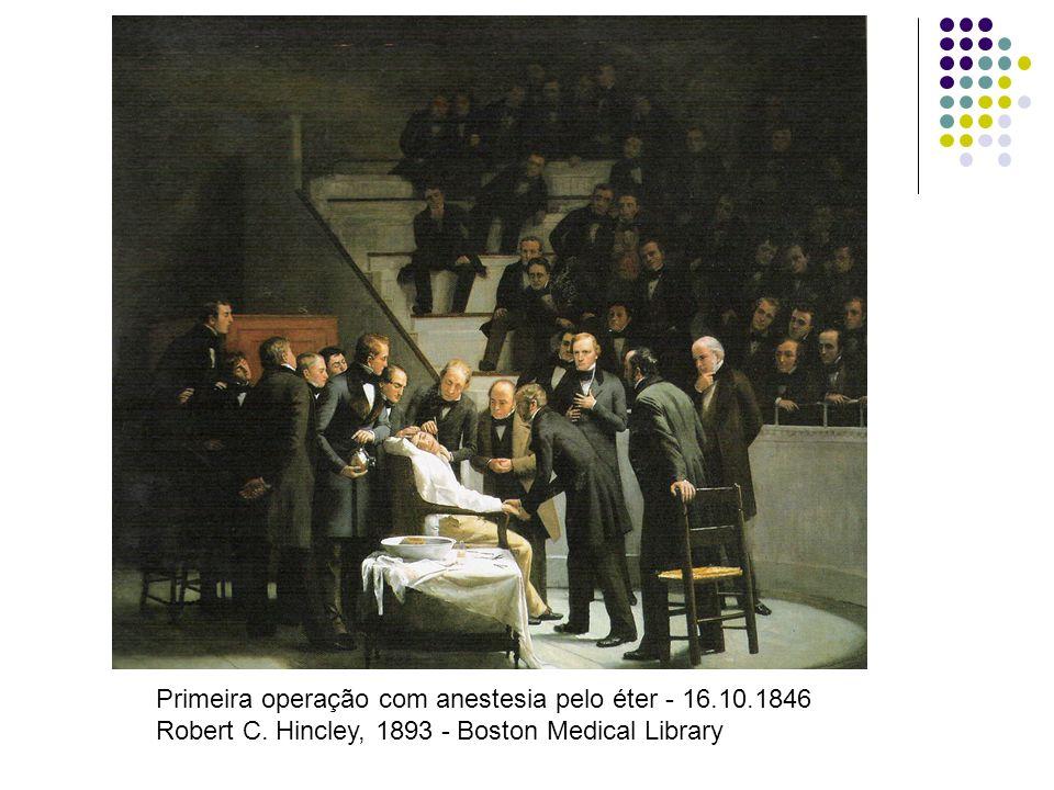 Primeira operação com anestesia pelo éter - 16. 10. 1846 Robert C