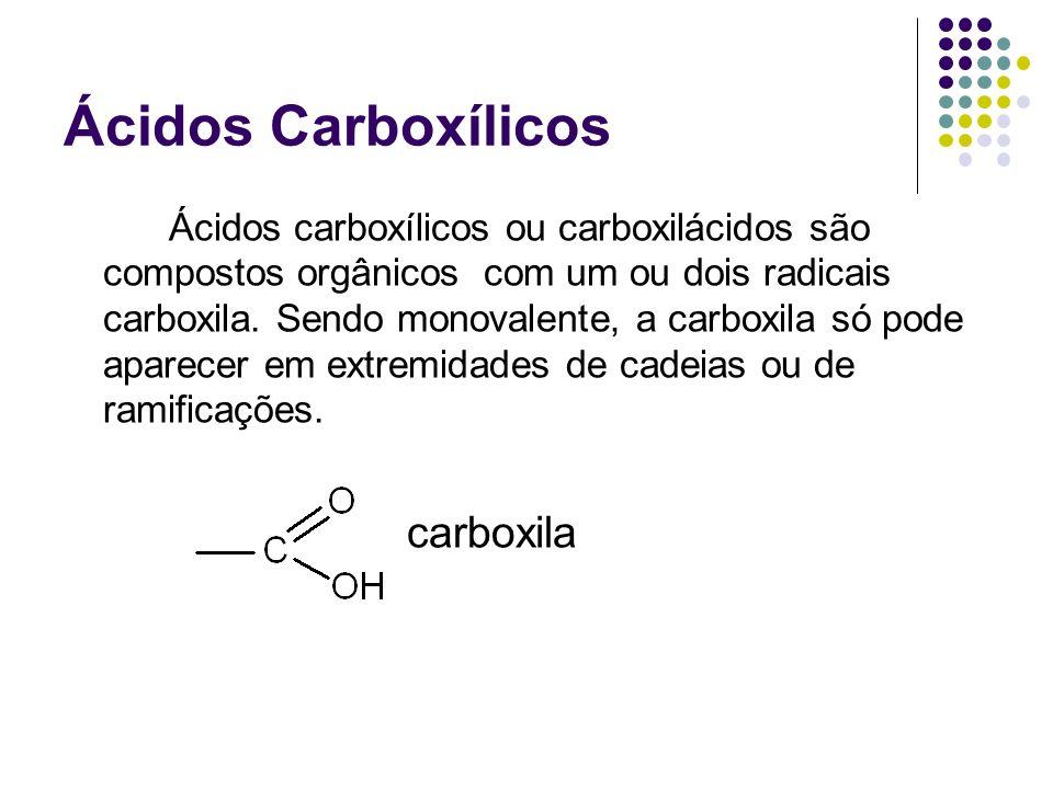 Ácidos Carboxílicos carboxila