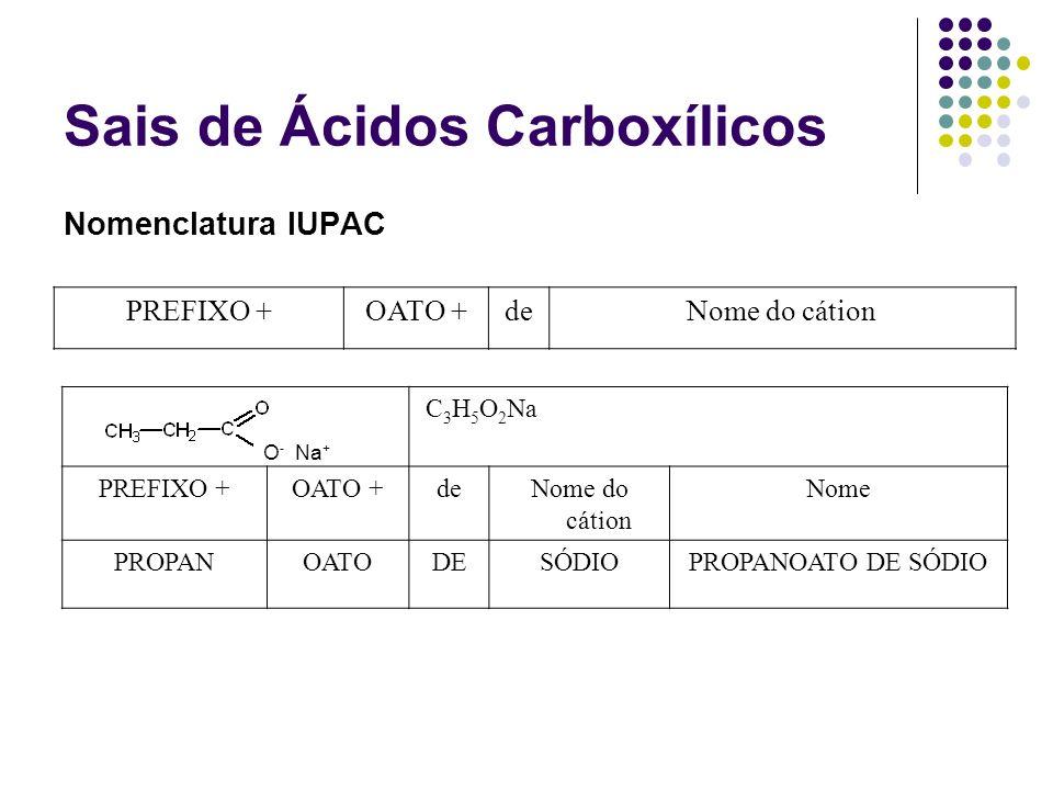 Sais de Ácidos Carboxílicos