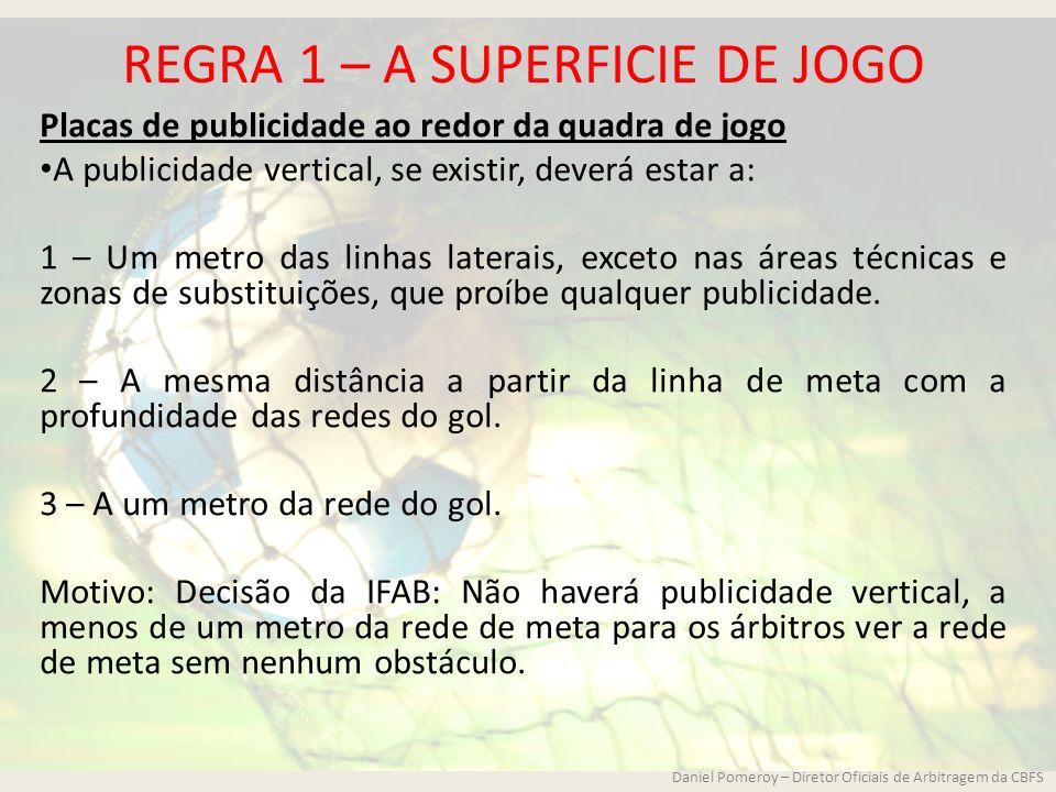 REGRA 1 – A SUPERFICIE DE JOGO