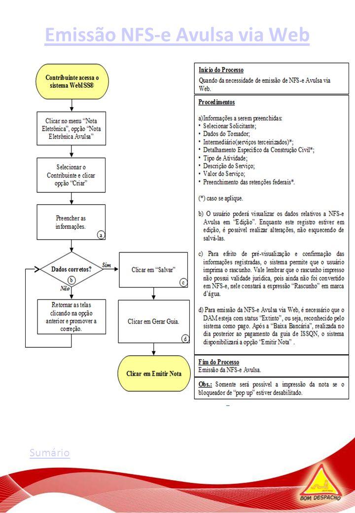 Emissão NFS-e Avulsa via Web