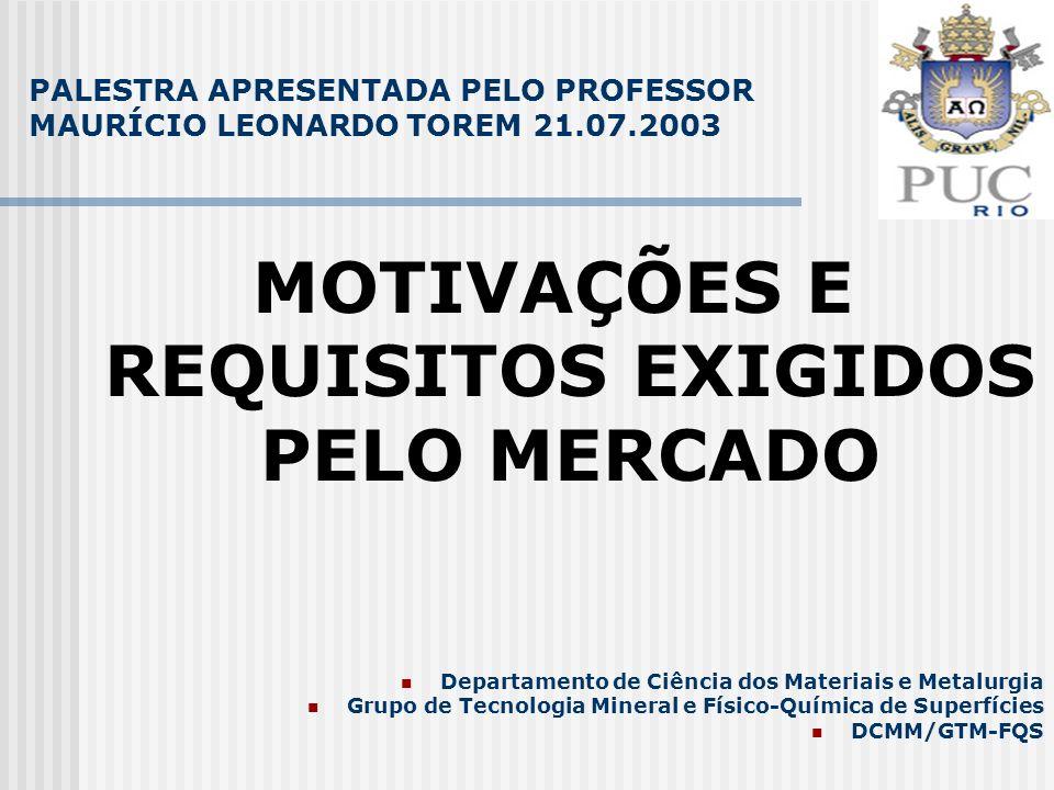 PALESTRA APRESENTADA PELO PROFESSOR MAURÍCIO LEONARDO TOREM 21.07.2003