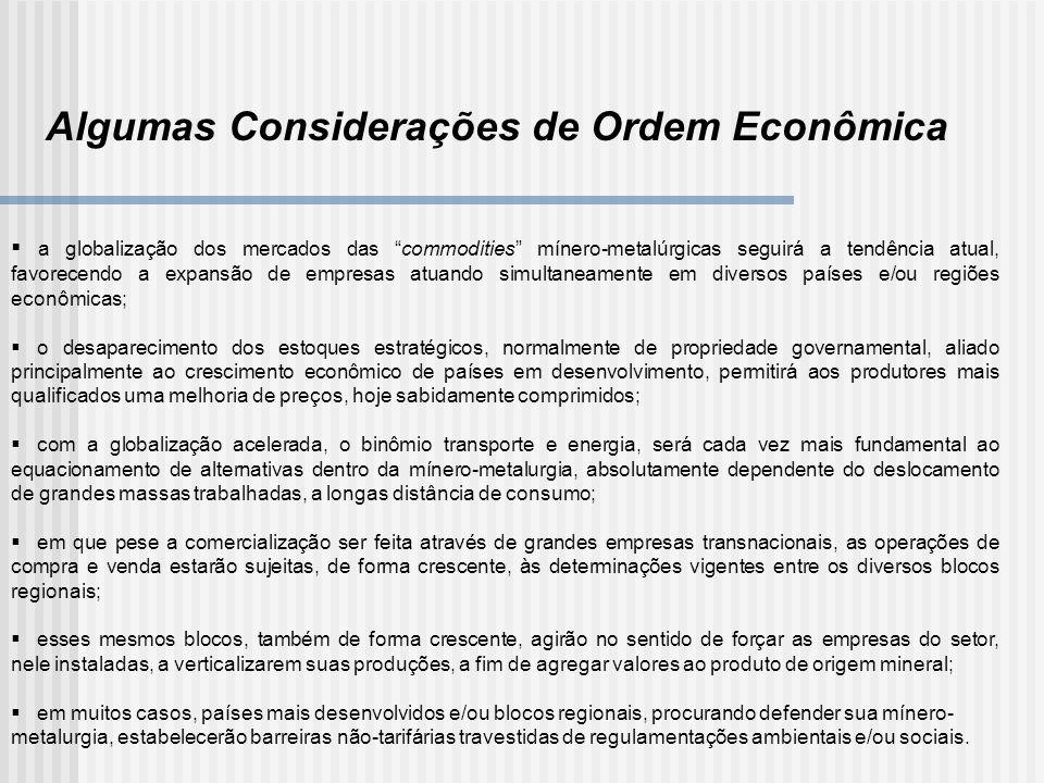 Algumas Considerações de Ordem Econômica