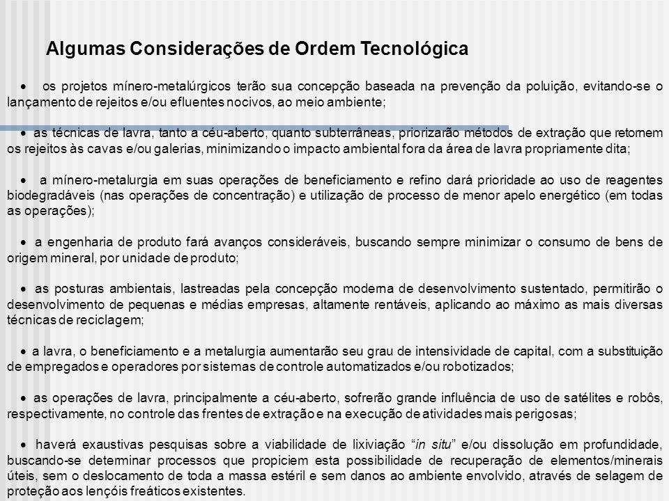 Algumas Considerações de Ordem Tecnológica