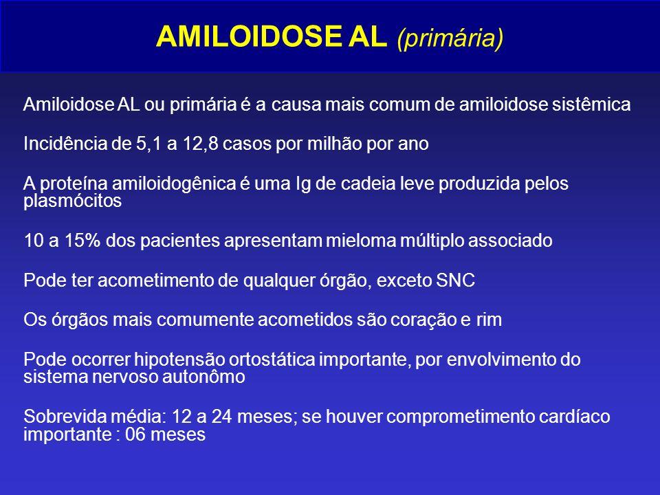 AMILOIDOSE AL (primária)