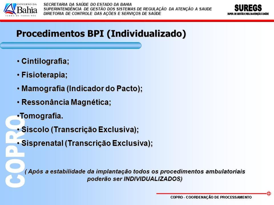 Procedimentos BPI (Individualizado)